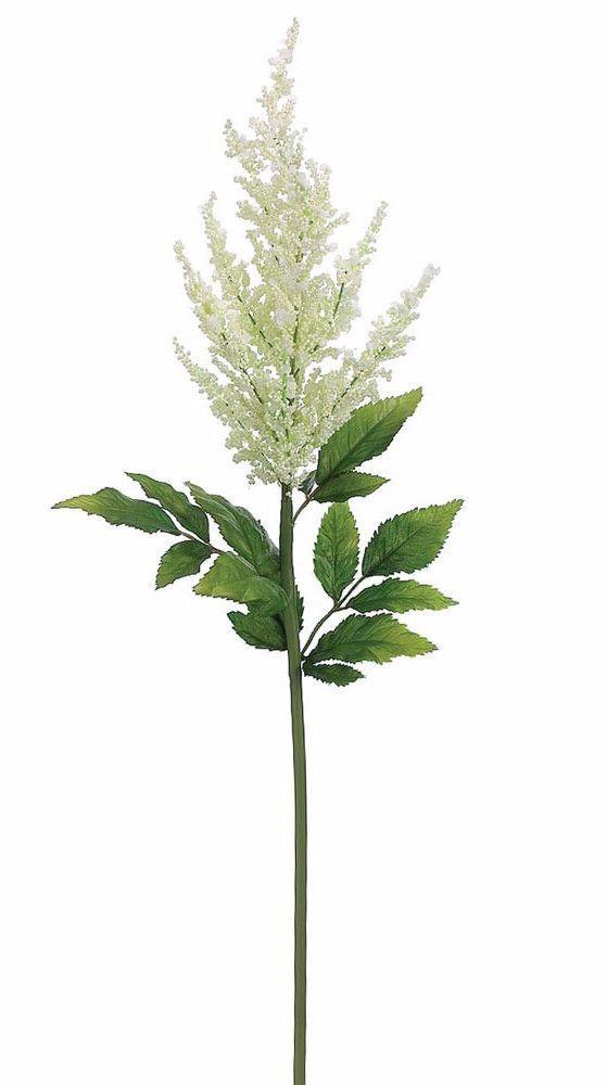 Silk Astilbe Stem In White 31 Tall Astilbe Flower Artificial Flowers Silk Flowers Wedding
