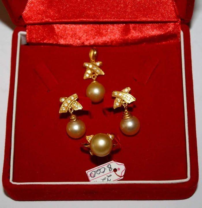 Order - Padang / 1 set perhiasan emas 22k mutiara gold ...