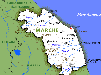 Marche Region Italy Map.Retire At Le Marche Italy Italy Italy Map Map