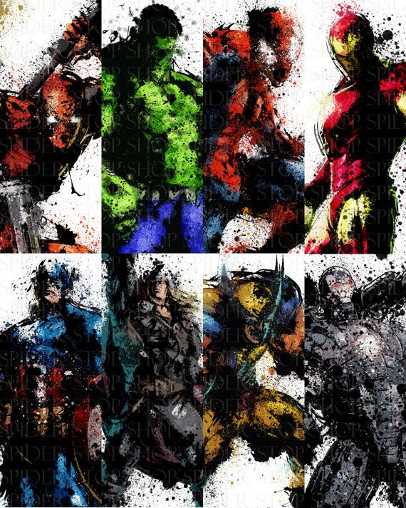 Marvel Grunge 11 x 17 by SpiderStopShop on Etsy, $10.00