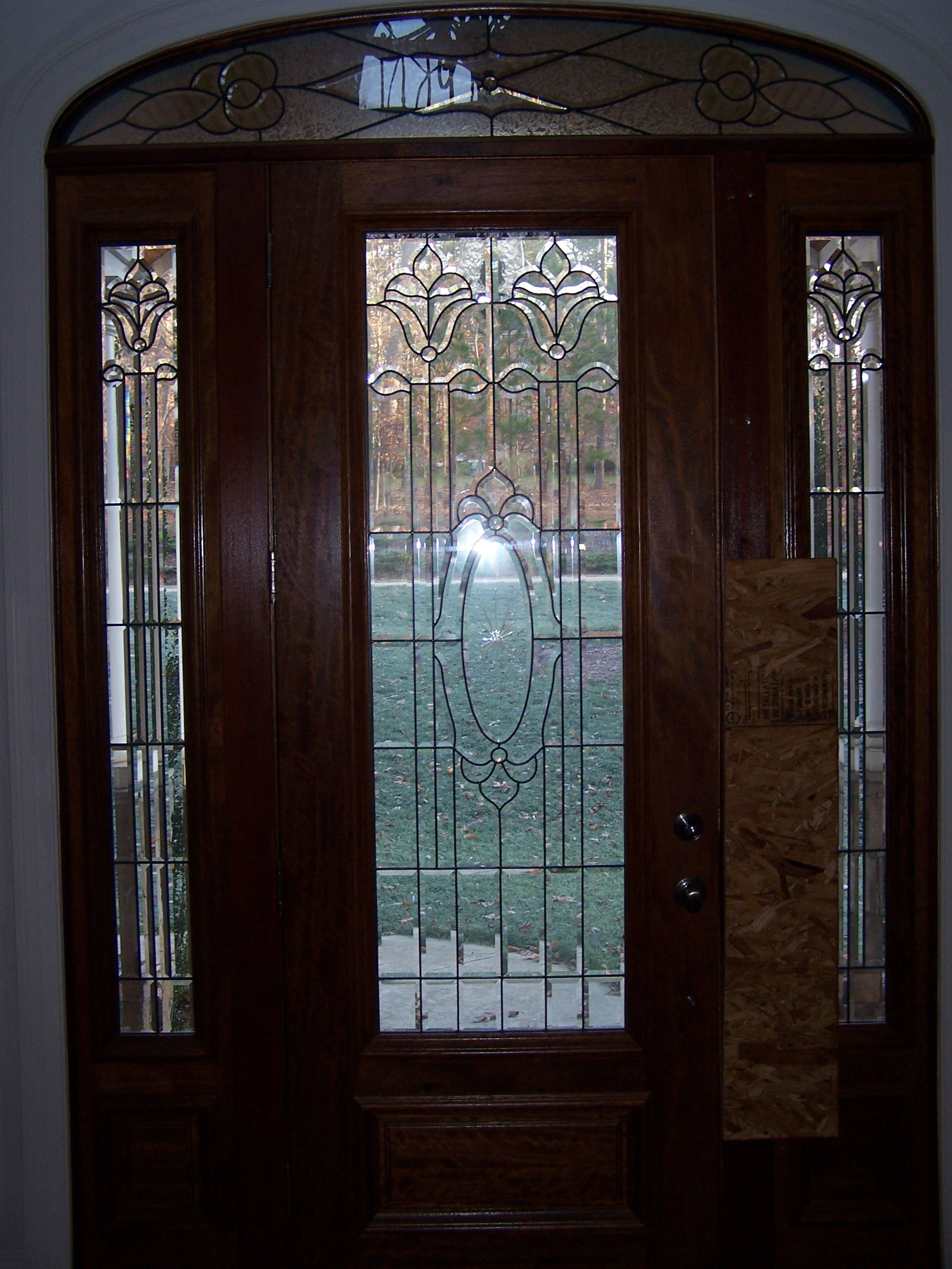 A View From The Inside Looking Out The Beveled Glass Do Doors2go