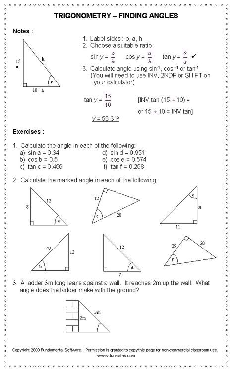 Free High School Math Worksheet From Funmaths Pre Alggeometry