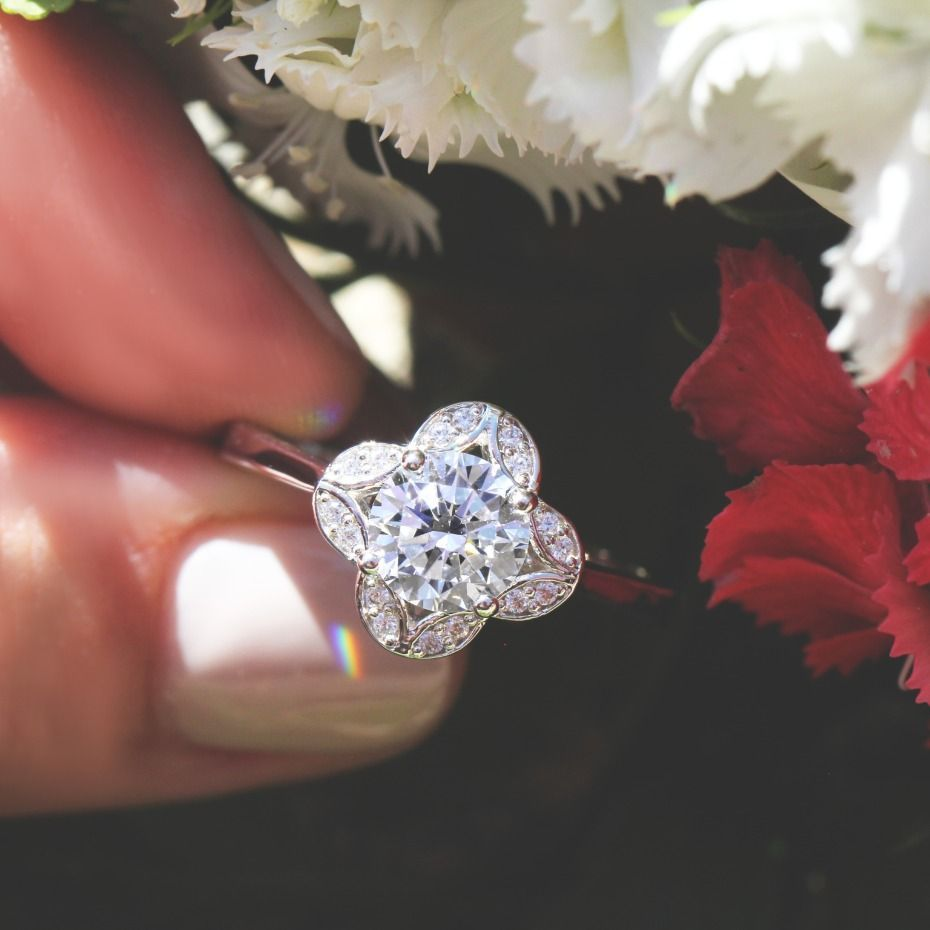 vintage style engagement rings from miadonna that rock