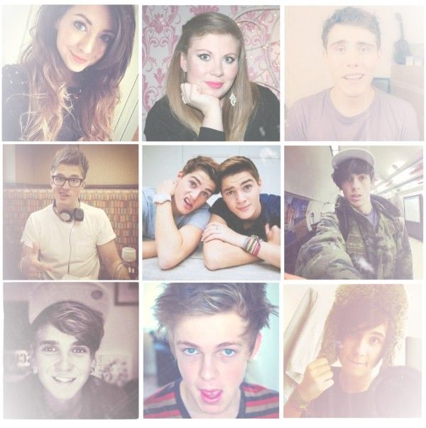 """""""My Favourite Youtubers!"""" by theinfinitewallflower ❤ liked on Polyvore"""