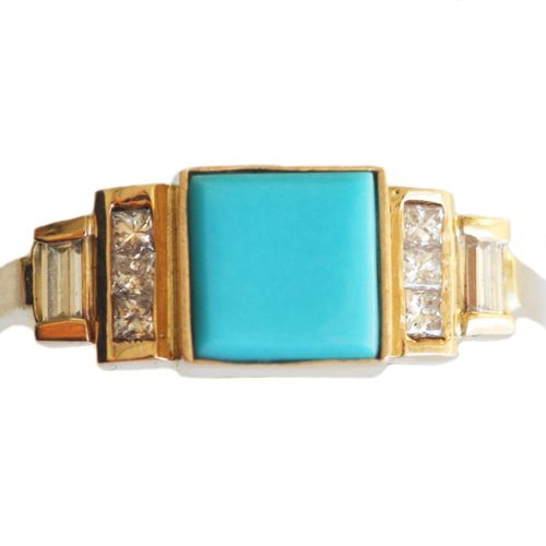 turquoise & diamonds - via mociun.  I want this.