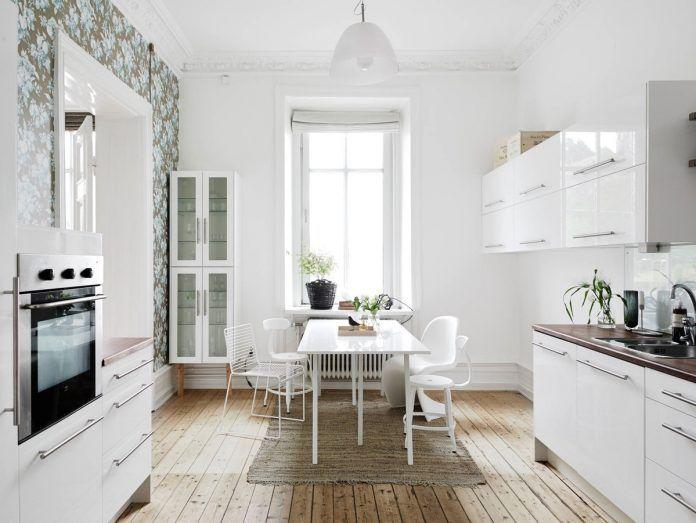 Weiße Esszimmer-Design-Ideen für kleinen Raum | Pinterest