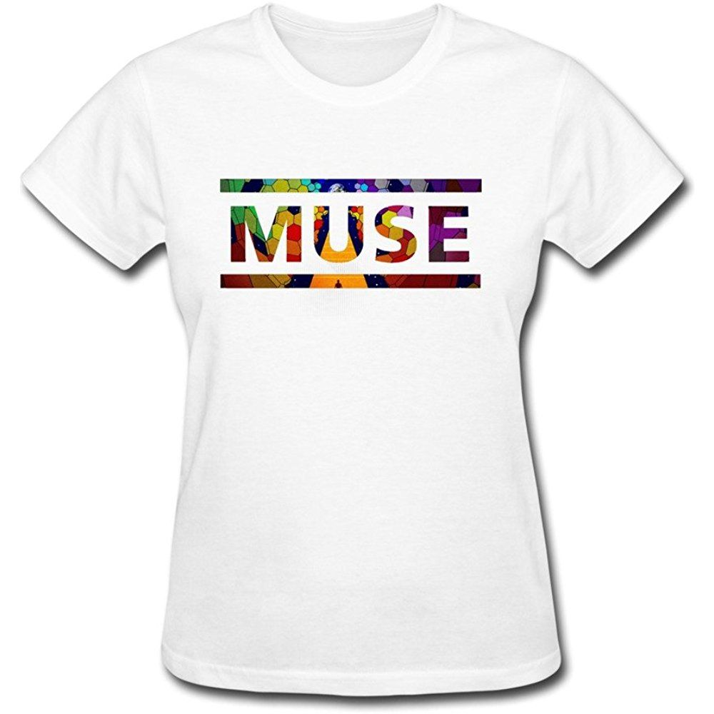 e9839ee1aa47c ... Shirts by customustyle. DA Womens Muse Drones Tour 2015 Fan Logo T Shirt  White S