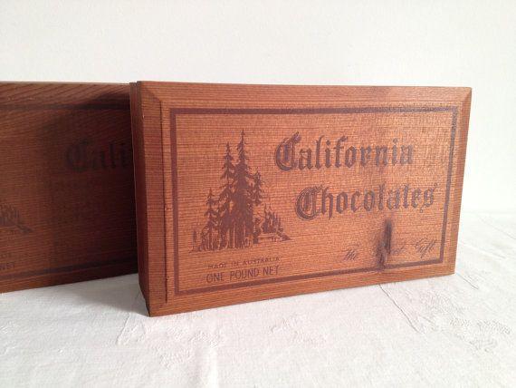 California Chocolates Box Made In Australia Wooden By Detteryan