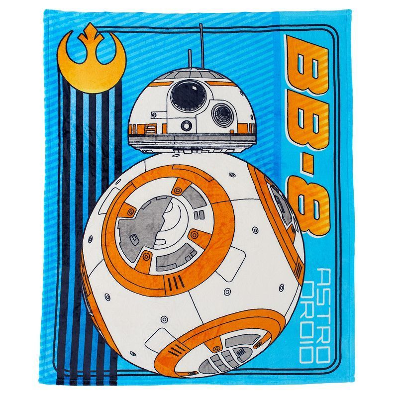 Star Wars Home Star Wars: Episode VII The Force Awakens BB8 Plush Throw, White