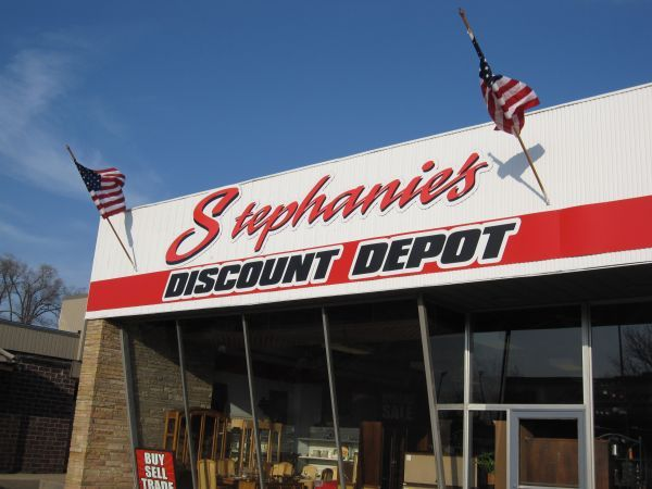 Stephanie's is in what many locals know as the former Leo's Flowers location at Knoxville Ave. and McClure Ave. The store opened at this location in January 2012 after 13 months of elbow grease getting it set up. Prior to that, the store was in a small strip mall on Prospect Road.