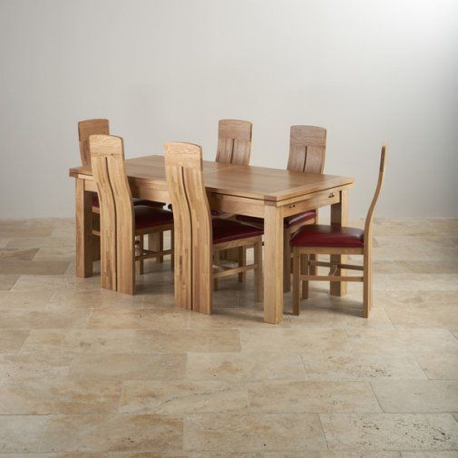 Incredible Dorset Natural Solid Oak Dining Set 6Ft Extending Table Creativecarmelina Interior Chair Design Creativecarmelinacom