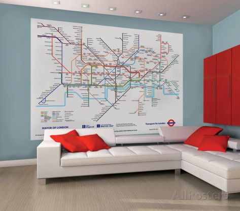 London underground map deco reproduction murale gante papier london subway map wall mural london subway map wall mural high quality durable printed wallpaper mural two easy to hang pieces hanging instructions sciox Choice Image