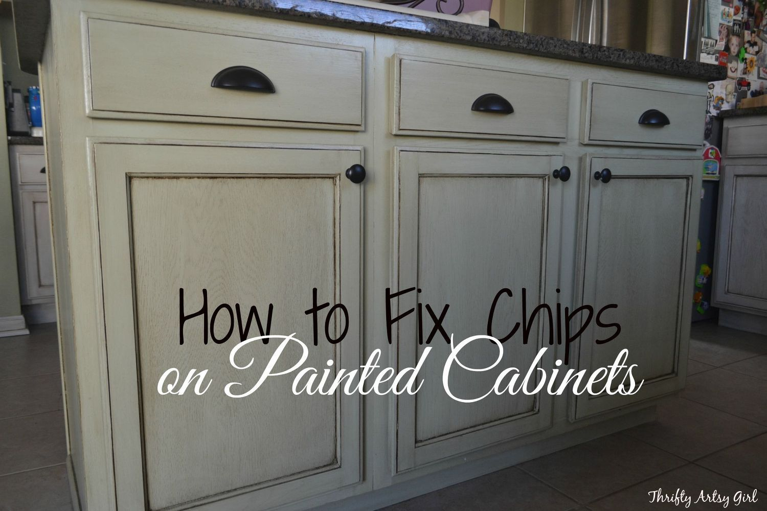 An Update On My Chalk Paint Kitchen Cabinets Painting Cabinets White Glazed Cabinets Cabinet Transformations