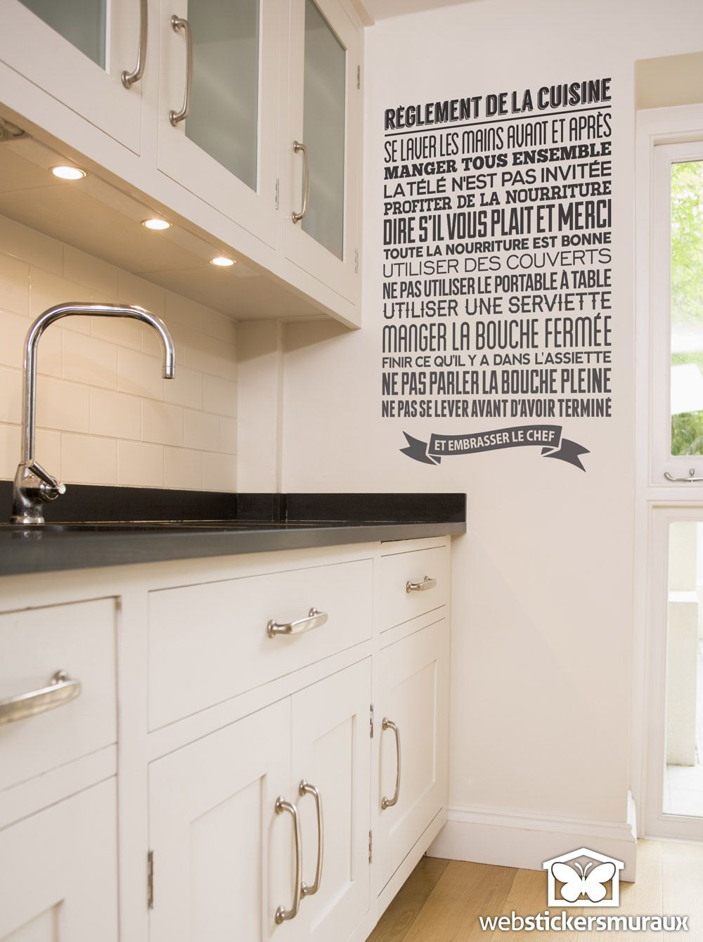 Stickers Muraux Règlement De La Cuisine STICKERS MURAUX - Stickers meuble de cuisine pour idees de deco de cuisine