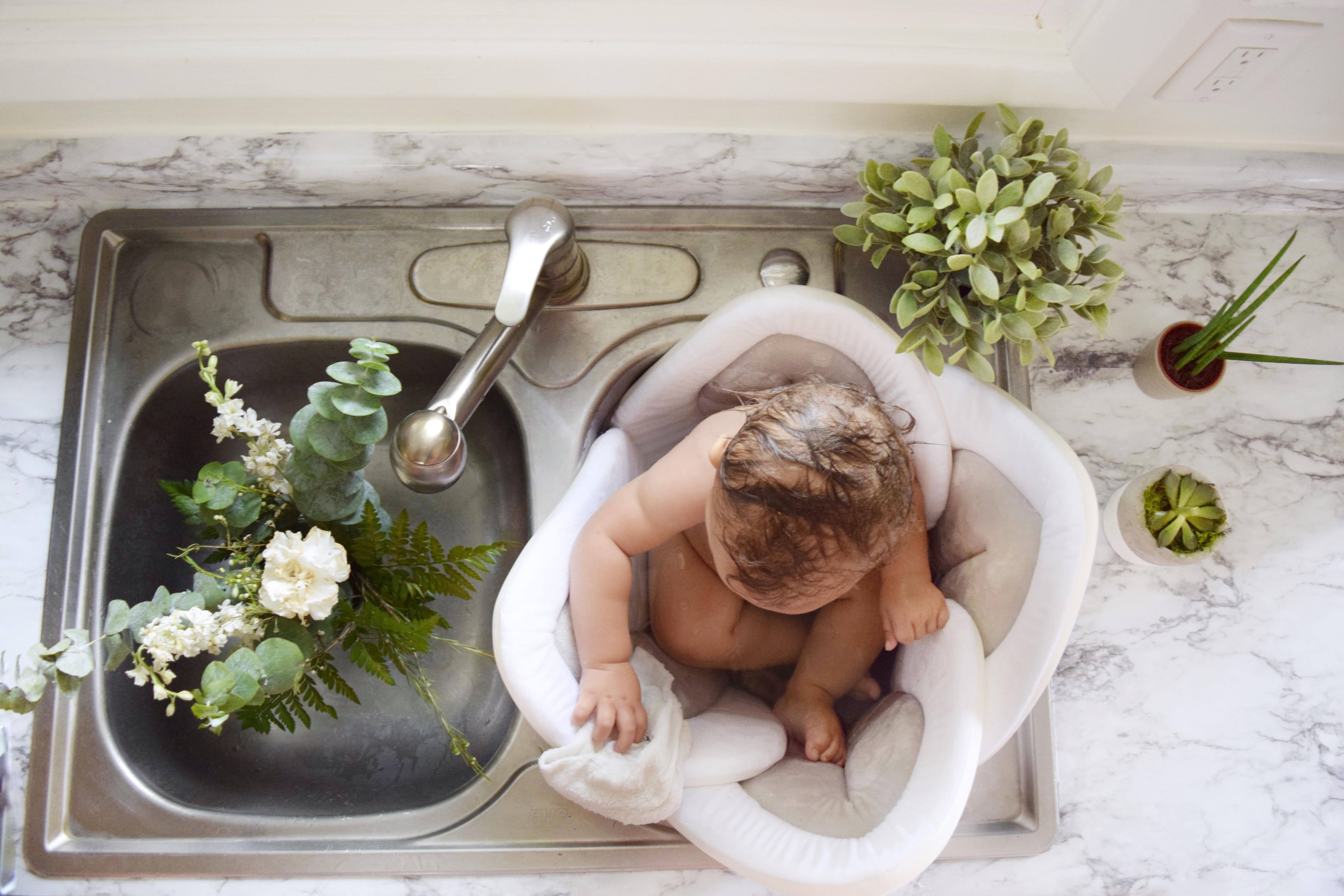 Bath Time Is Our Favorite Blooming Bath Lotus 39 99 Baby Bath Seat Blooming Baby Bath Baby Bath Tub