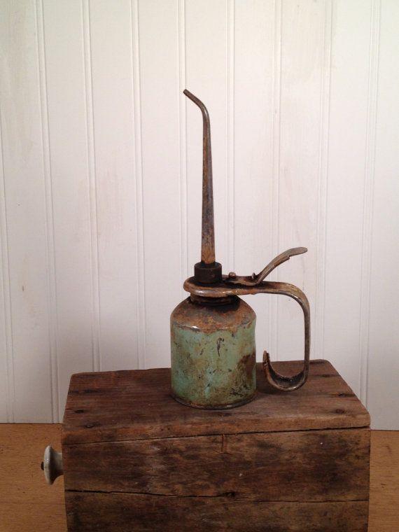 Vintage Oil Can on Etsy, $24 00 | Oil cans | Vintage oil