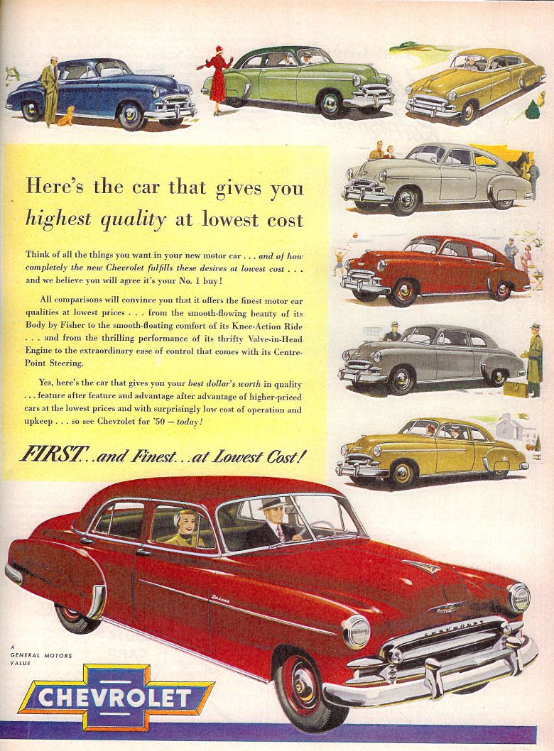 vintage advertising for chevrolet work coupe 1950 - Google Search ...