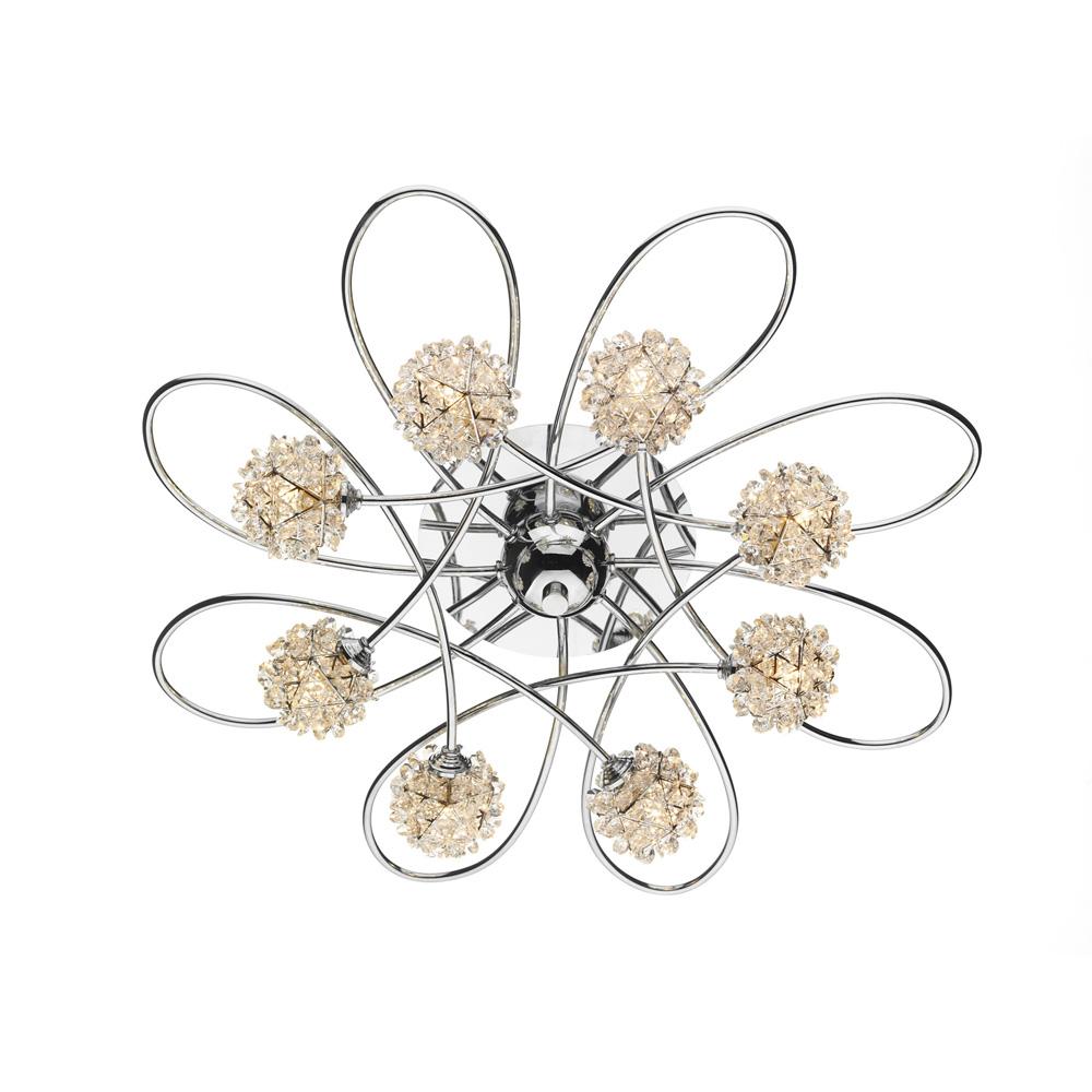 Alonso light crystal flush ceiling light socket store