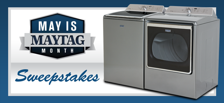 May Is Maytag Month Sweepstakes Maytag Washer And Dryer