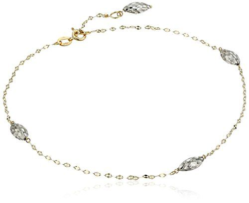 Best Birthday Gift 14k Dolphin Charm w//1 inch Extension Anklet