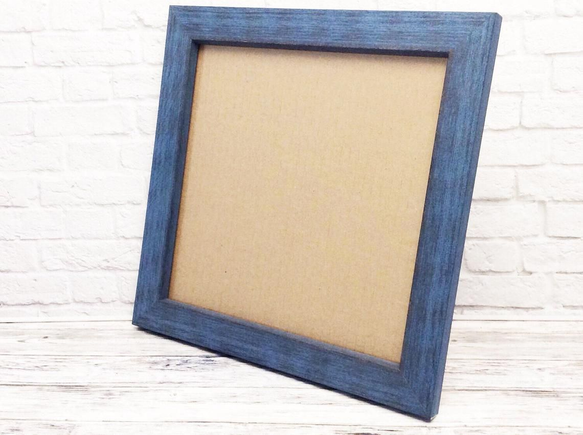 Blue Rustic Barnwood Frame Blue Rustic Frame 12x16 Blue Etsy Rustic Frames Barn Wood Frames Barn Wood