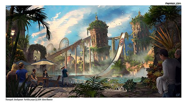 Themepark Design Adventure Cove On Behance Themed Entertainment