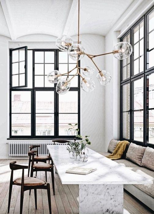 Stunning Chandelier Lighting Dining Room Table