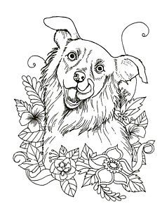 zentangle drawing happy dog by tamer and cindy elsharouni