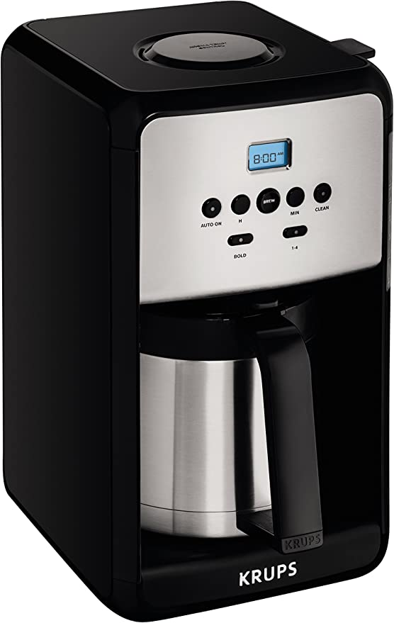 Amazon Com Krups Et351 Coffee Maker Coffee Programmable Maker Thermal Carafe 12 Cup Black Kitchen Dining In 2020 Coffee Maker Coffee Coffee Grinder