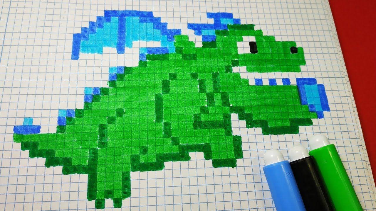 Como Dibujar Baby Dragon Clash Royale Pixel Art Dibujos