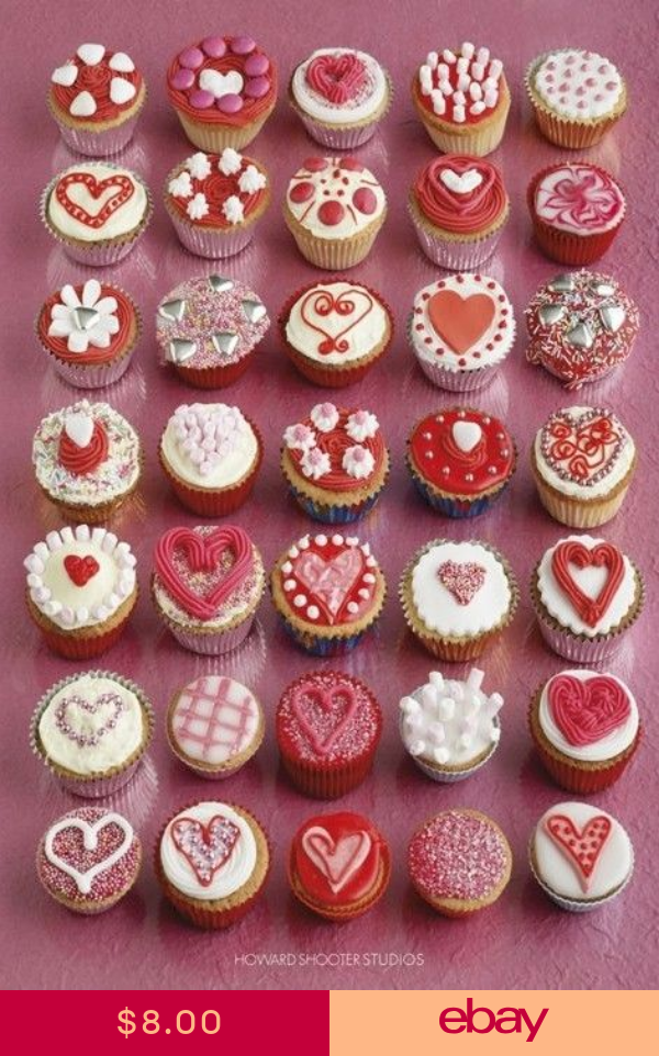 Howard Shooter Poster Cupcake Hearts 24x36 Collage Love Baking
