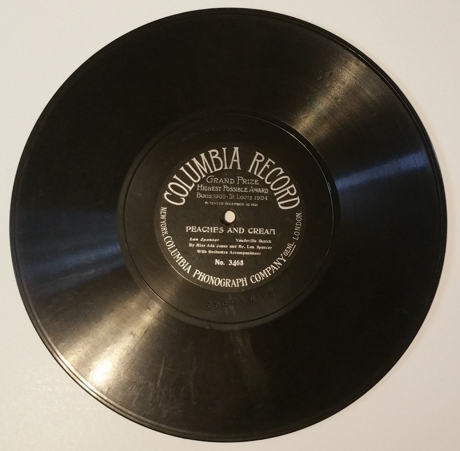 Peaches and Cream 78 RPM Columbia Record No. 3468 (#2221) by CherishedAgain on Etsy