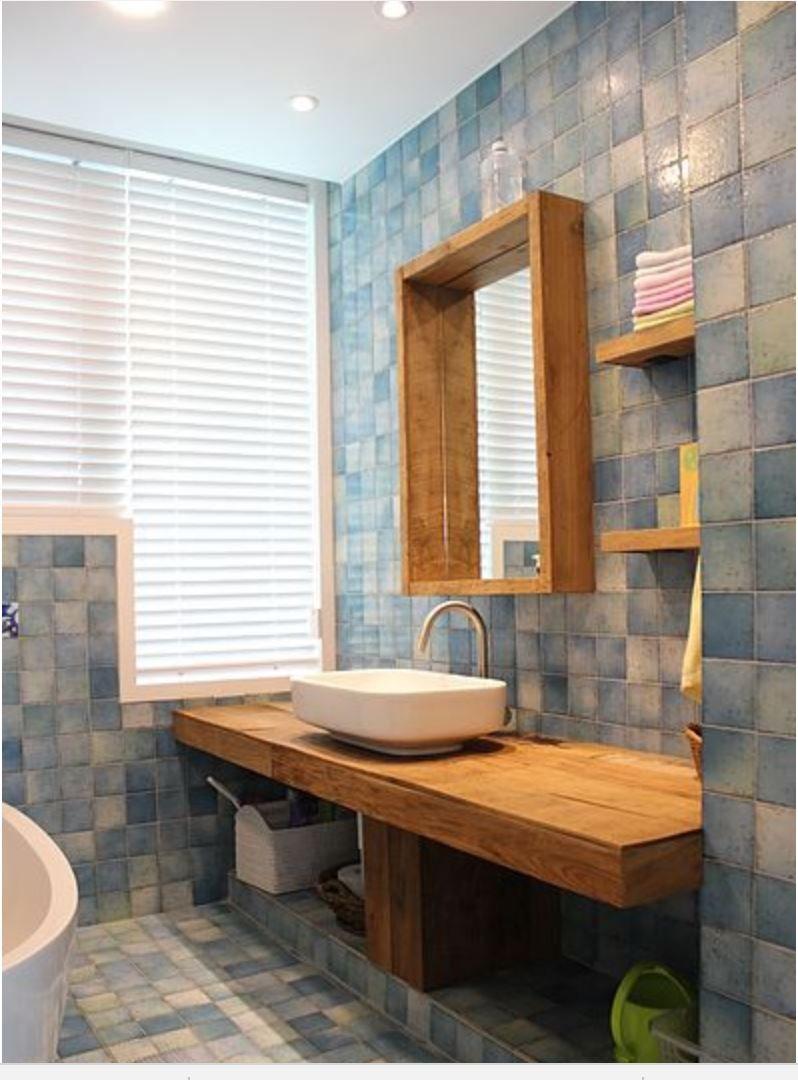 카페같은 집 인테리어 화장실 예쁜 욕실 수입 타일 원목 홈인테리어 Home Interior