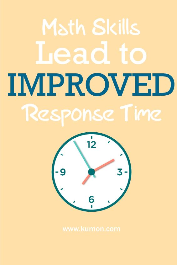 Math Skills Lead to Improved Response Time | Self-Learning ...