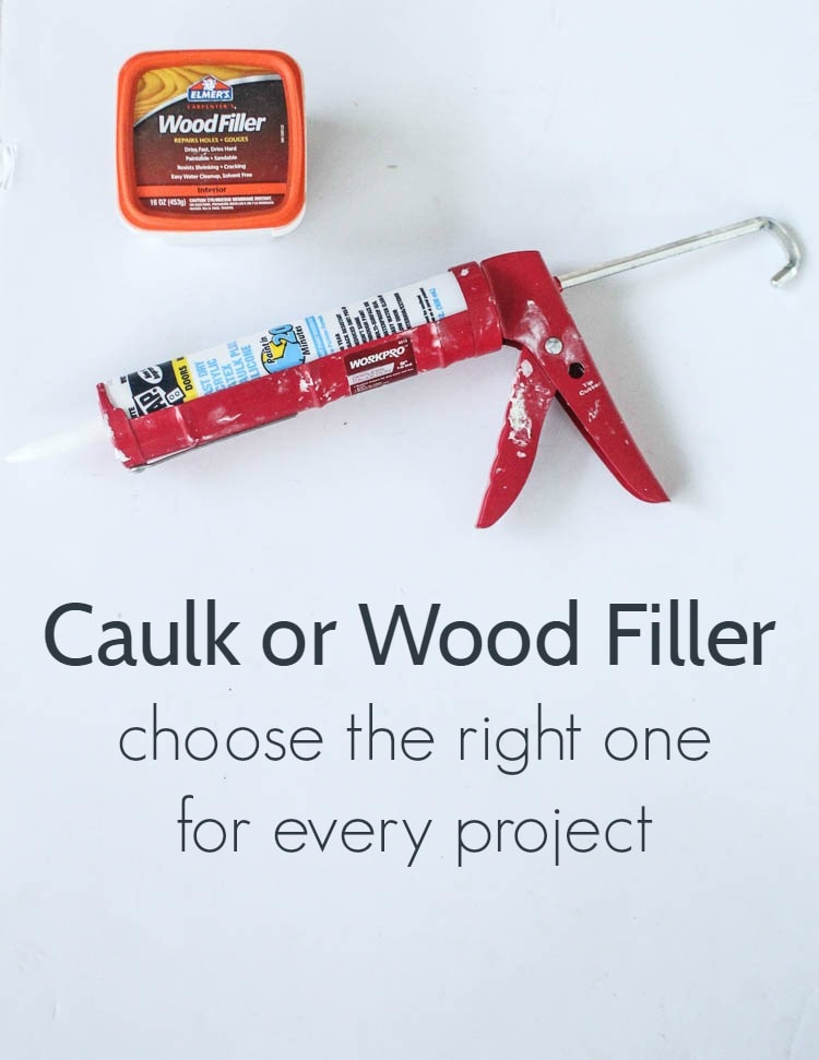 Best Caulk Or Wood Filler Choose The Right One For Every Project Wood Filler Diy Fireplace Wood 400 x 300