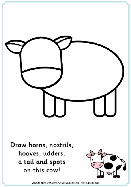 Complete The Picture Cow Free Printable Dibujos