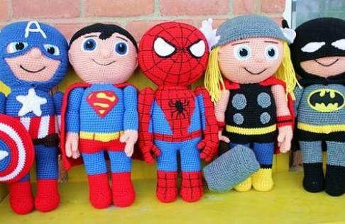 Amigurumisfanclub Kevin : Super héroes de amigurumi: ¡batman! amigurumi hero and crochet