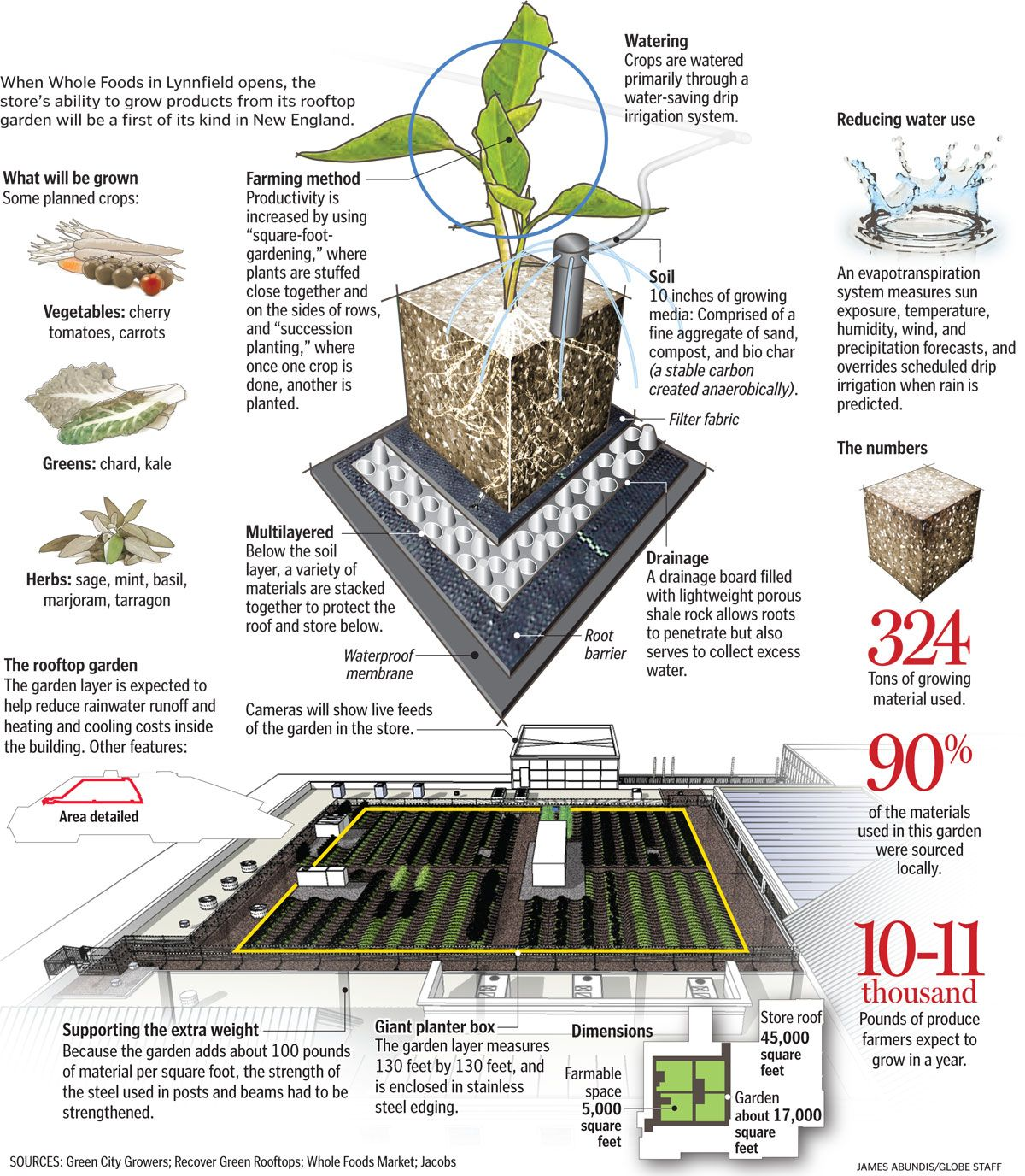 Haute Cuisine Whole Foods Store To Sell Produce Grown On Its Roof The Boston Globe Home Vegetable Garden Rooftop Garden