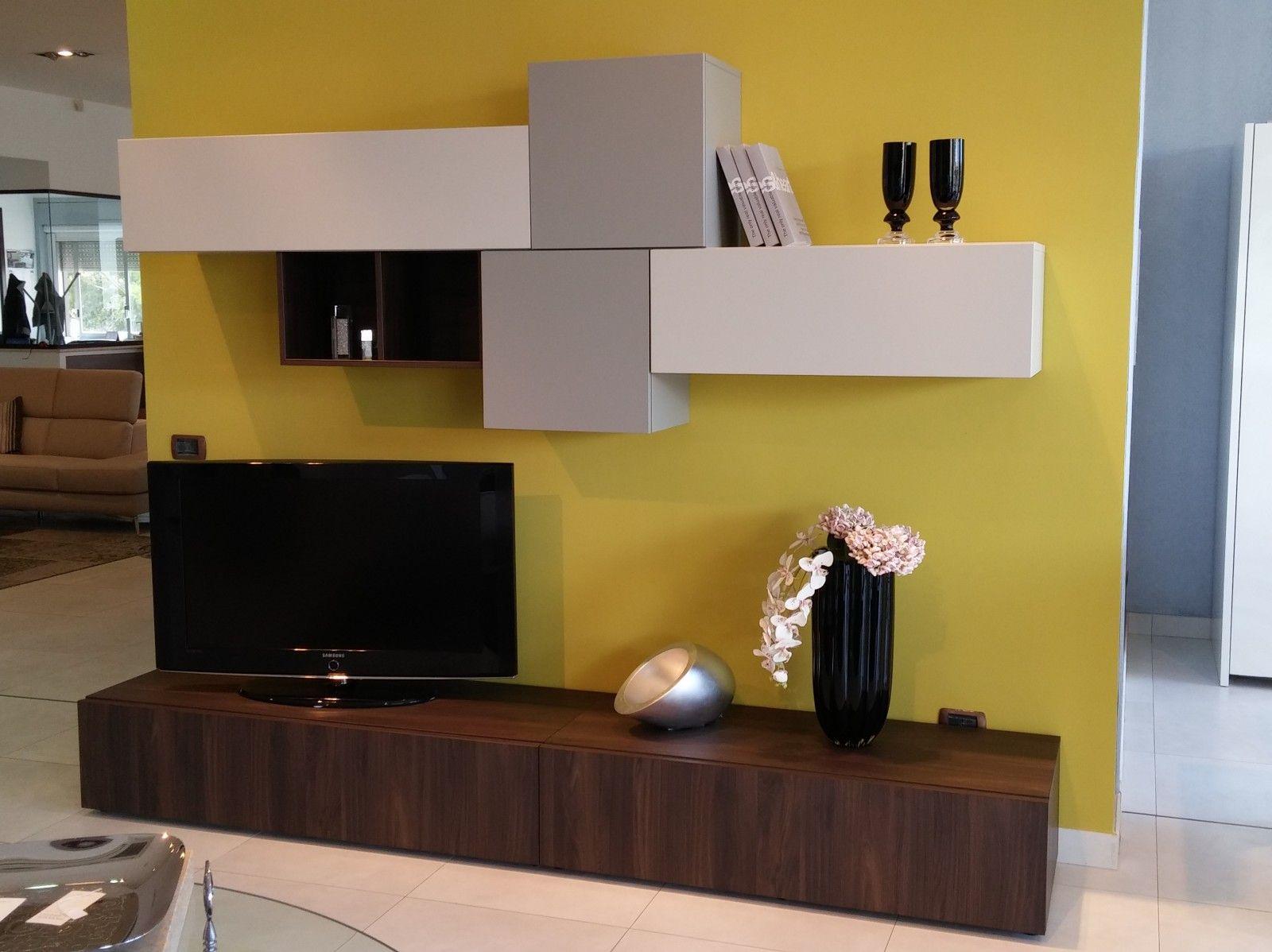 parete olmo e laccato | parete attrezzata | pinterest | parete ... - Parete Attrezzata Per Tv Logic 530