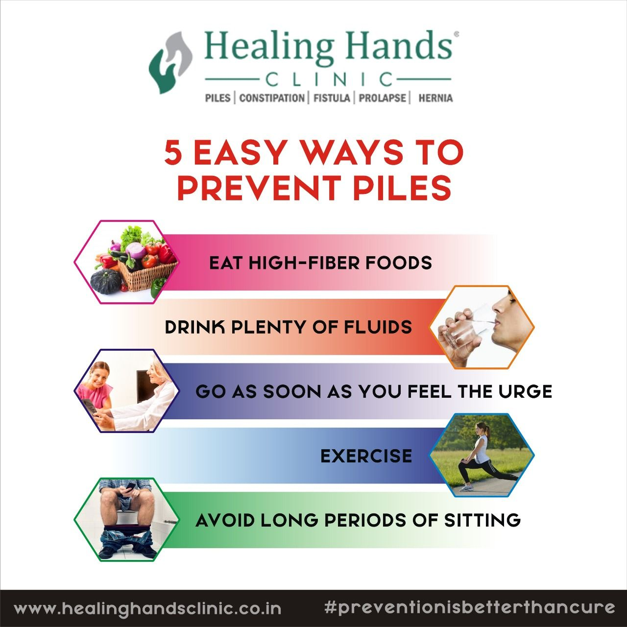 Follow the abovementioned prevention methods to live