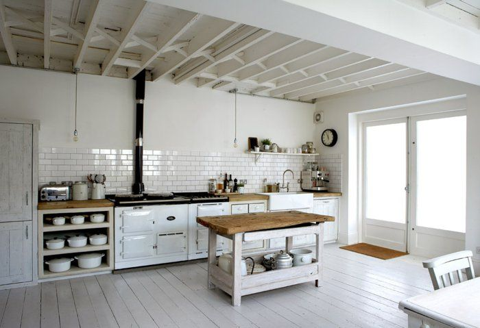 53 variantes pour les cuisines blanches! | Aga, Kitchens and Kitchen ...