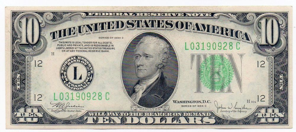 10 US One Dollar Bills $1 bill - Uncirculated Crisp $10 total