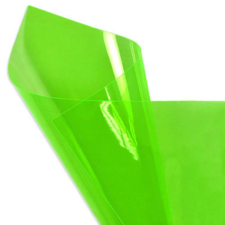 Irish Green Fluorescent Vinyl Vinyl Fabric Vinyl Leather Craft