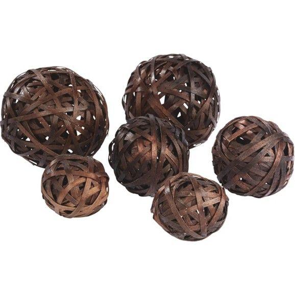 6-er Set Dekokugeln aus Holz - in tollen Trendfarben erhältlich