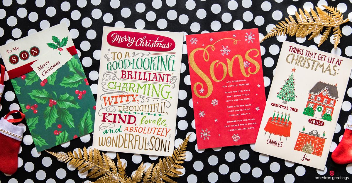 Christmas Messages for Son Christmas card sayings