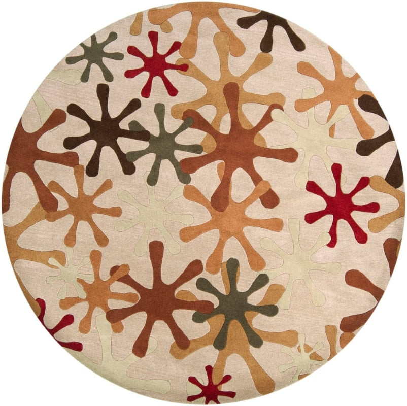 Surya Ath5019 8rd Athena 8 Round Wool Hand Tufted Contemporary