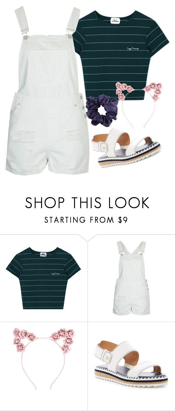 """Overalls"" by lmp202 ❤ liked on Polyvore featuring Topshop, Hot Topic, Tommy Hilfiger, Summer, overalls, trends and contestentry"