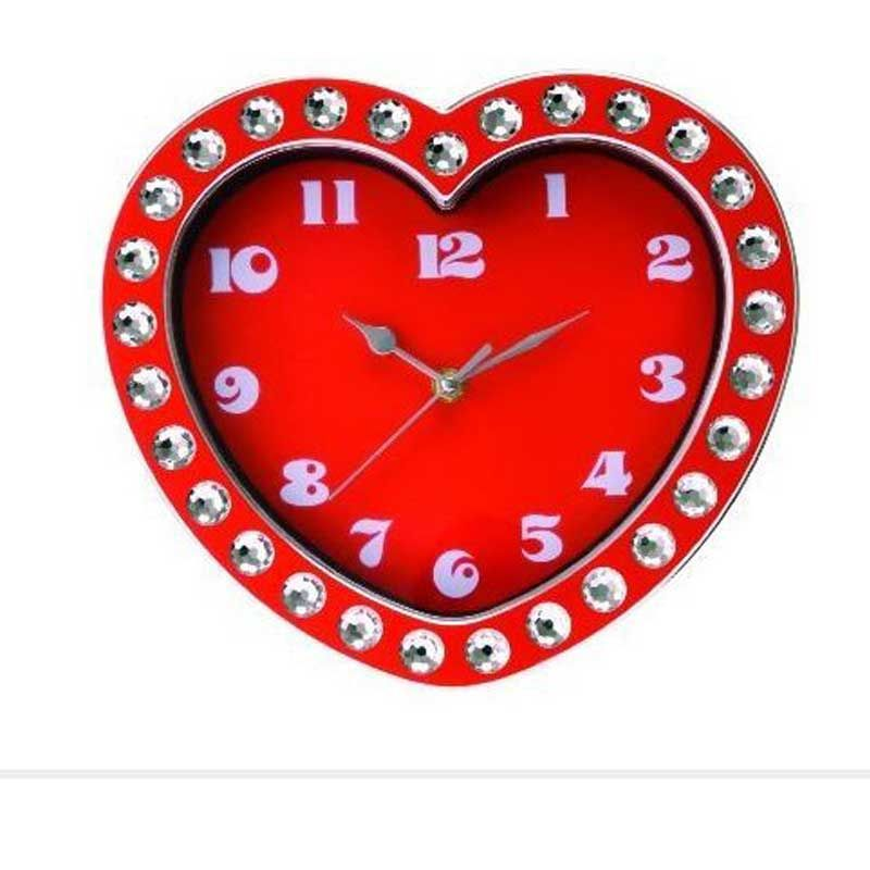 Heart Shaped Valentine's Day Personalized Clock
