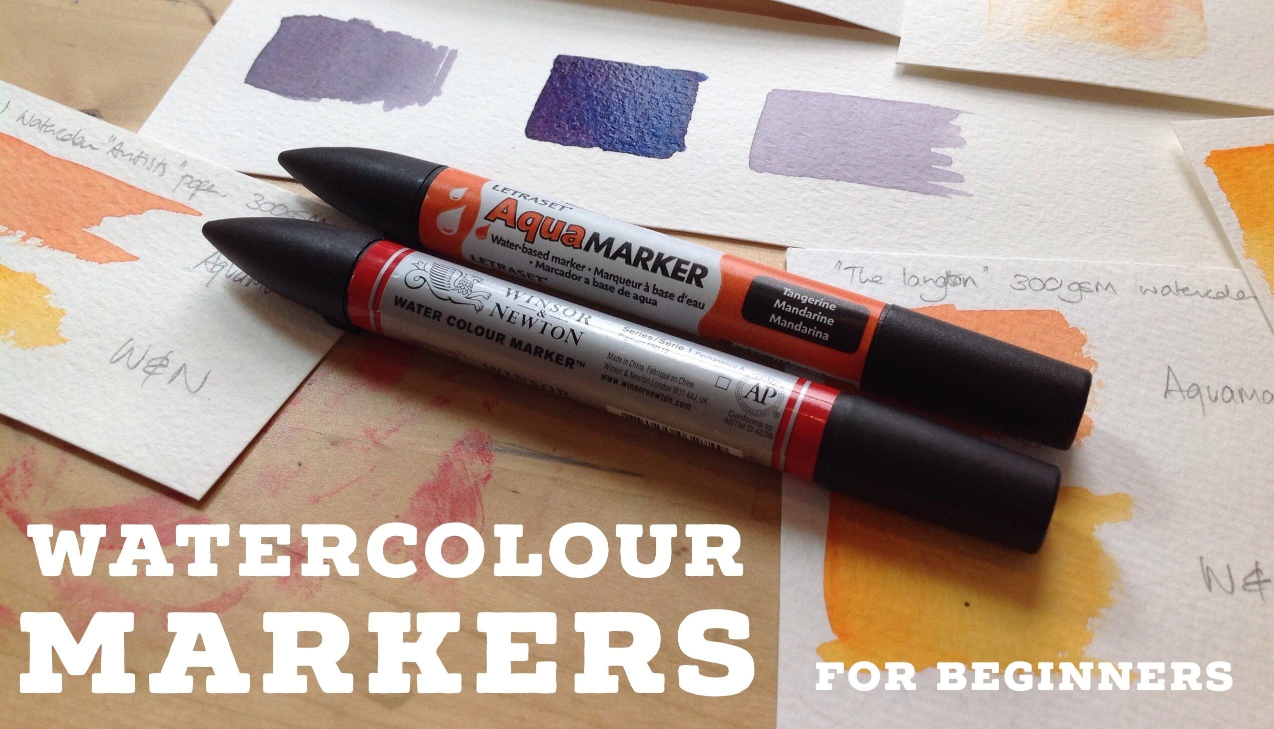 Watercolour Markers For Beginners Tutorial Watercolor Beginner