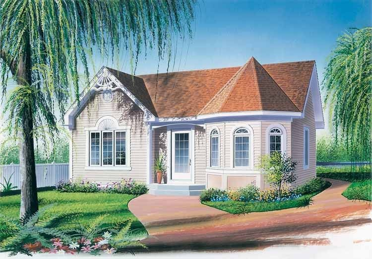 Victorian Style House Plan 2 Beds 1 Baths 972 Sq Ft Plan 23 168 Victorian House Plans Drummond House Plans Cottage House Plans